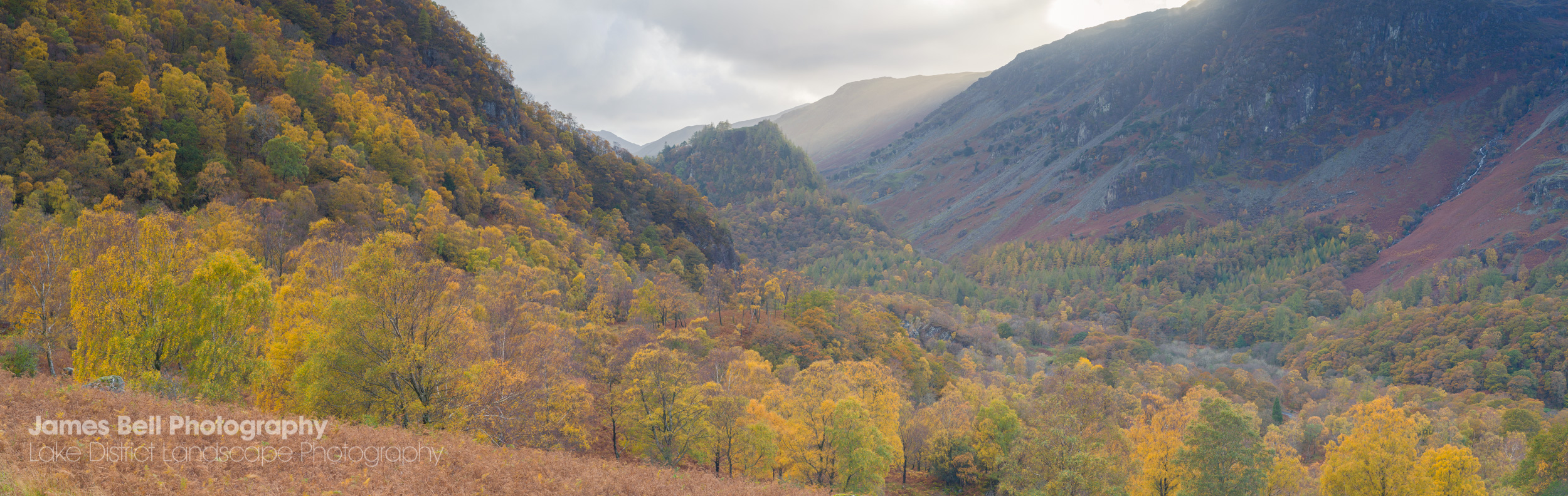 Autumn in the Borrowdale Valley framed prints available
