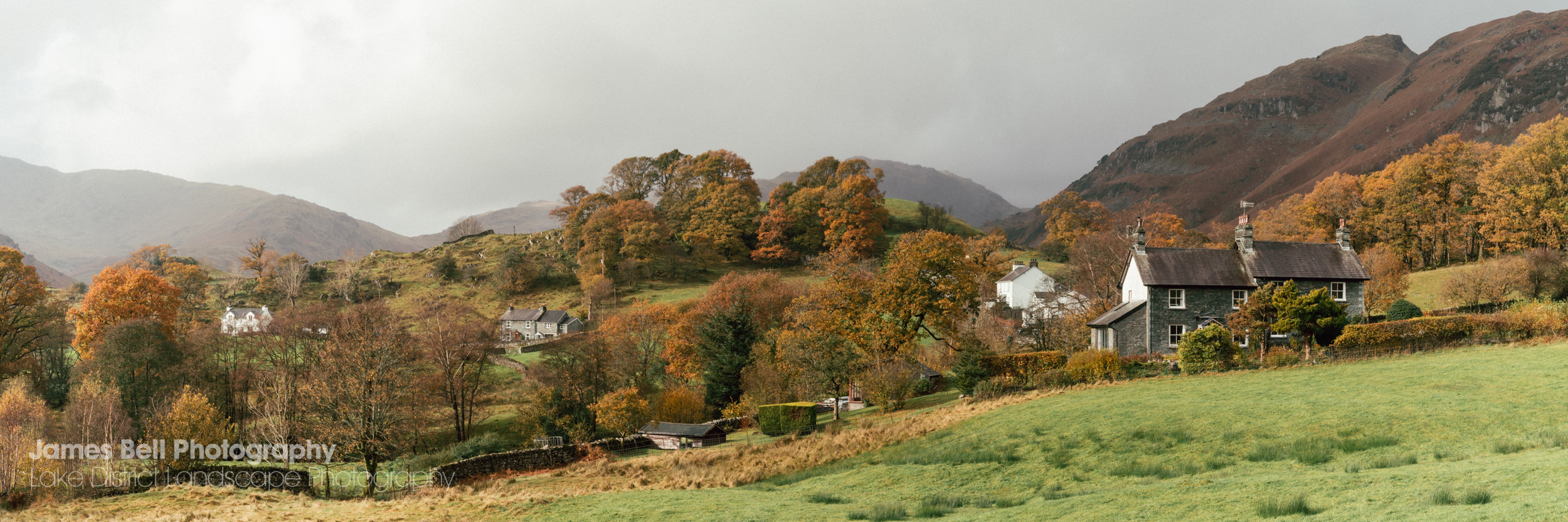 Little Langdale Panoramic Photography Print