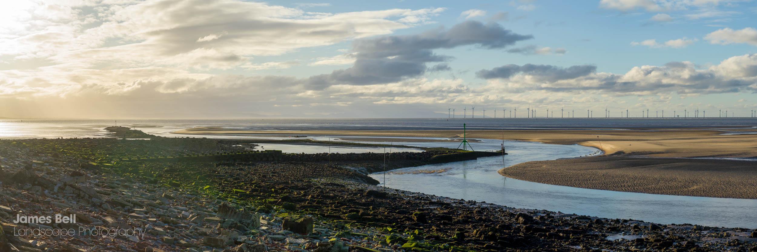 The River Alt meets the Irish Sea
