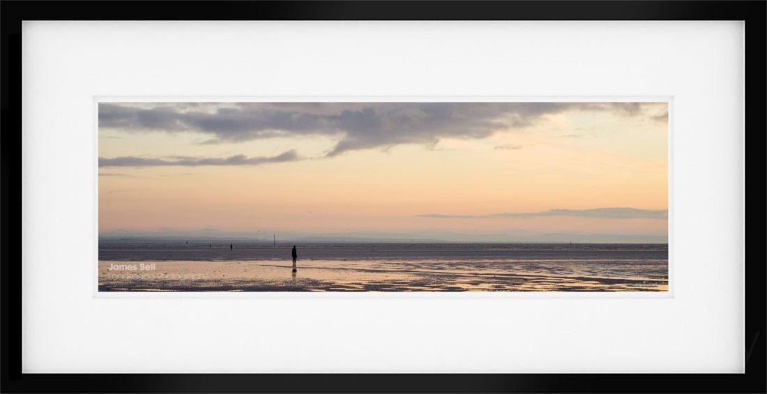 Panoramic sunset at Crosby Beach