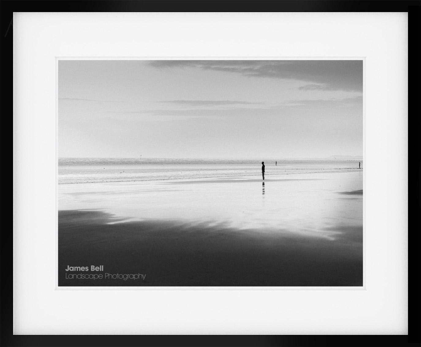 Crosby Beach Black & White Print