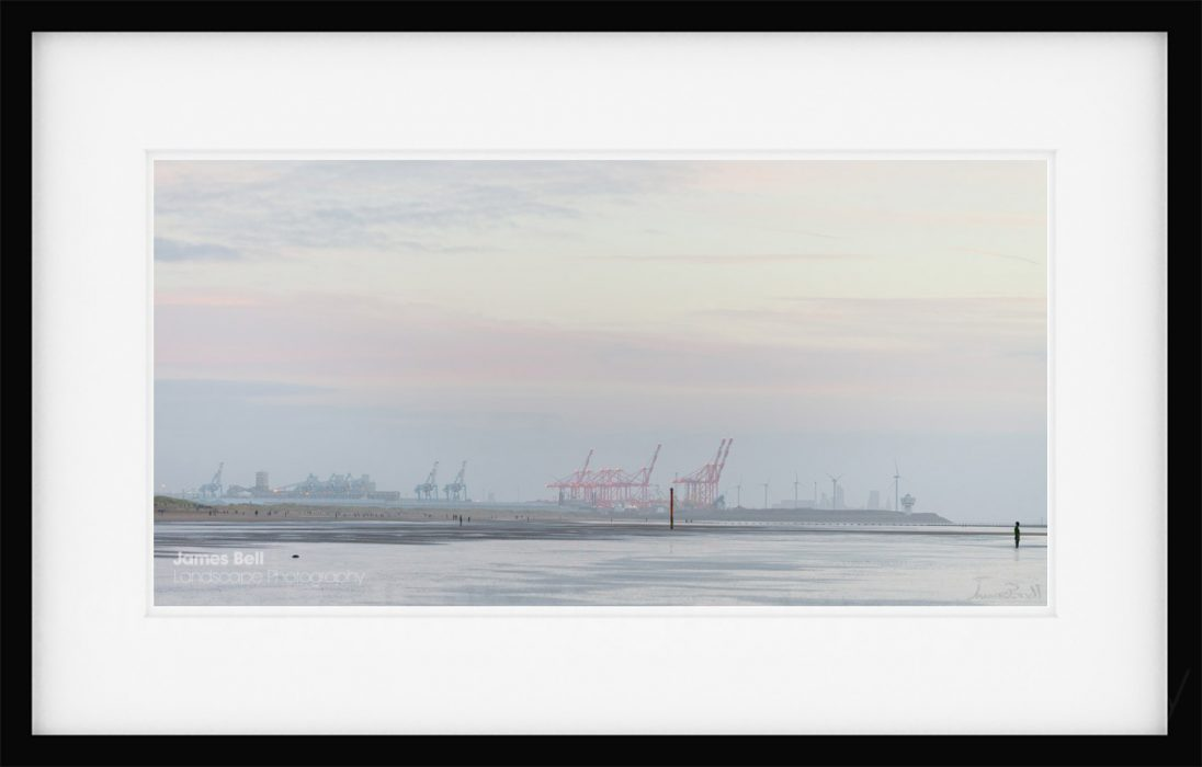 Liverpool from Crosby Beach print