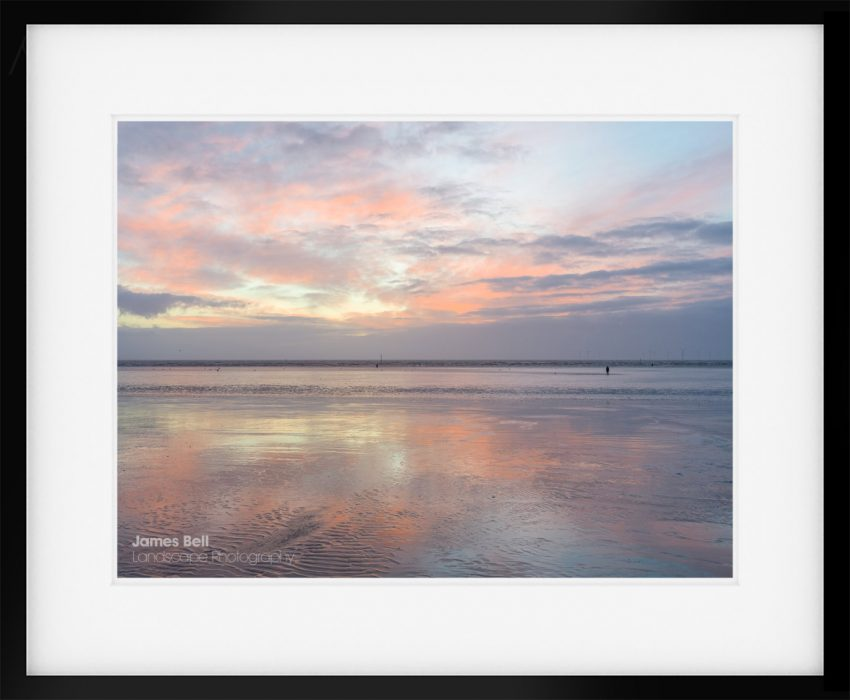 Framed print of Sunset from Crosby Beach