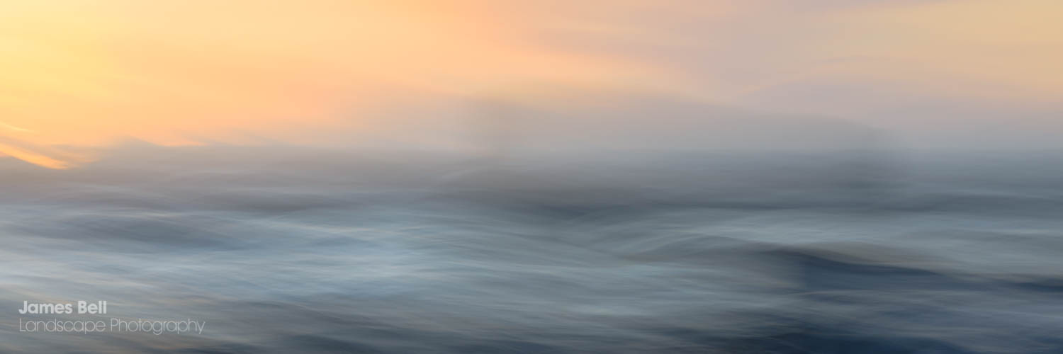 ICM Abstract Print of Crosby Beach Sunset