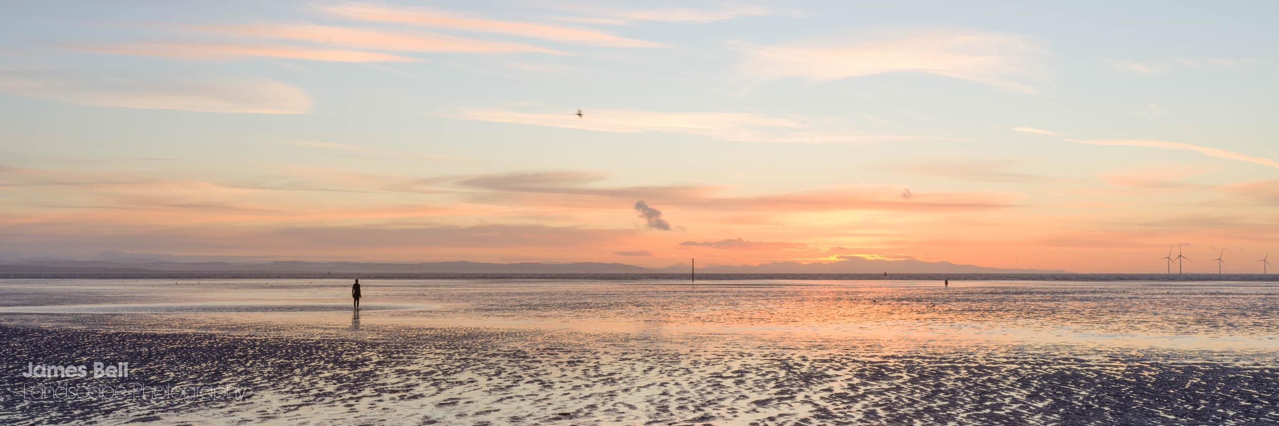 Crosby Beach Sunset Print