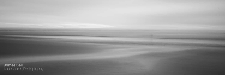 Crosby Beach Mono Abstract Print