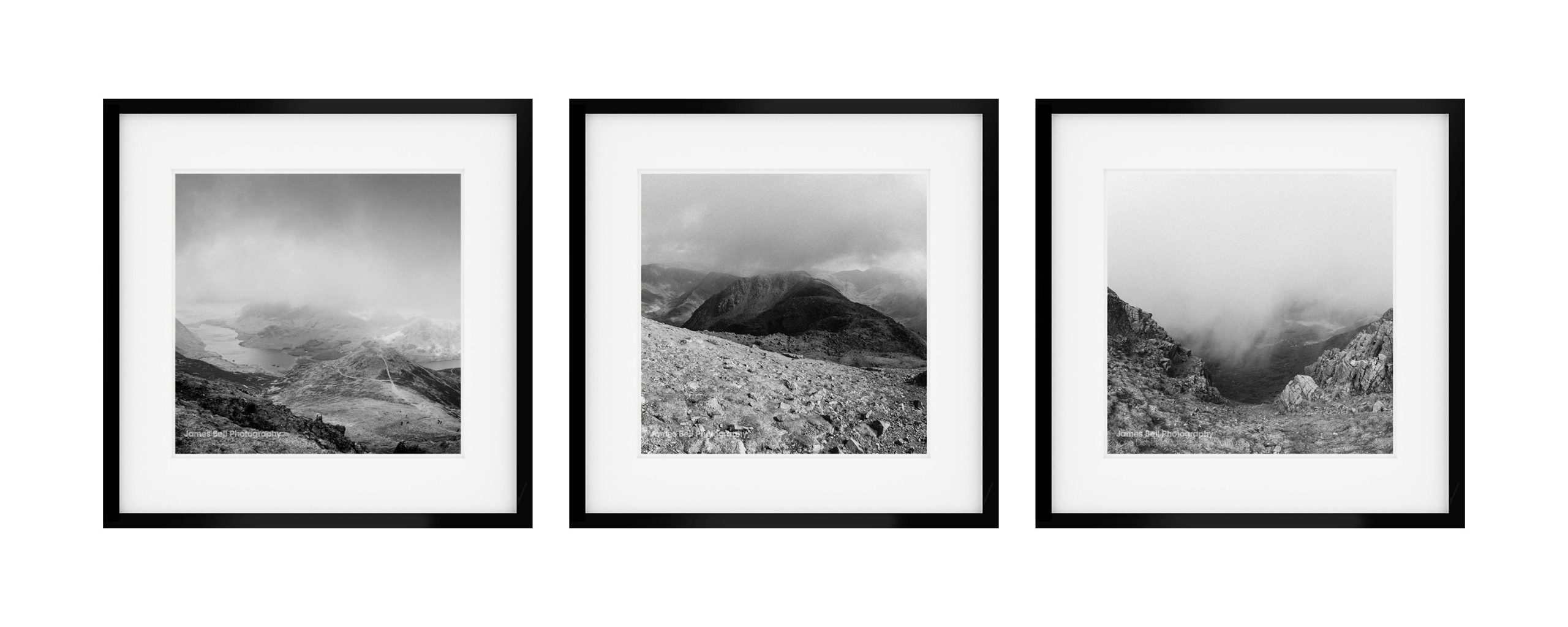 Framed Black and White prints of Buttermere by James Bell